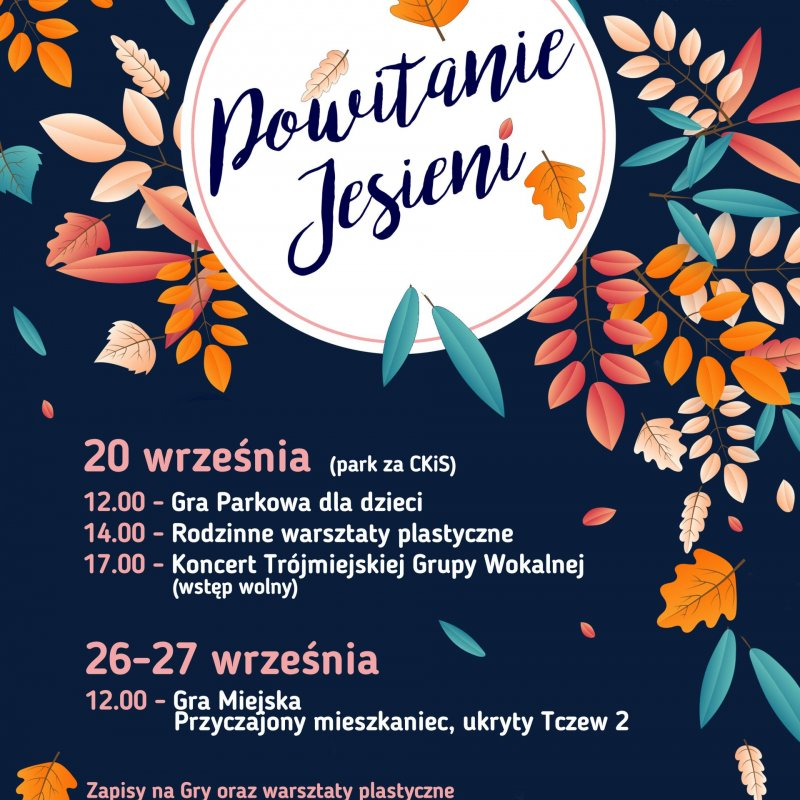 Powitanie jesieni - plakat