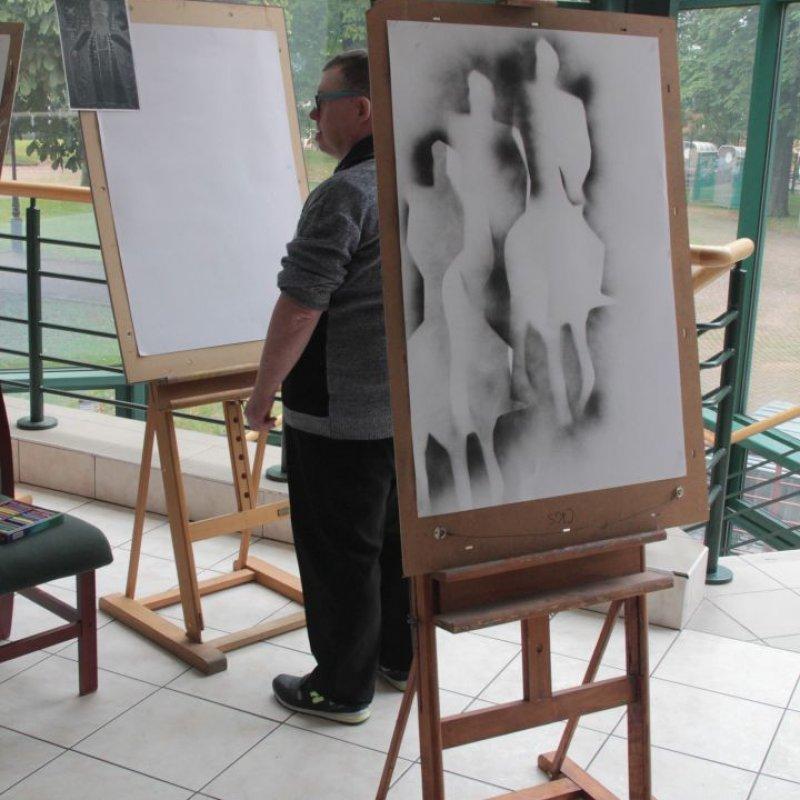 Plener malarski inspirowany Bitwą Warszawską fot. J.Grunau