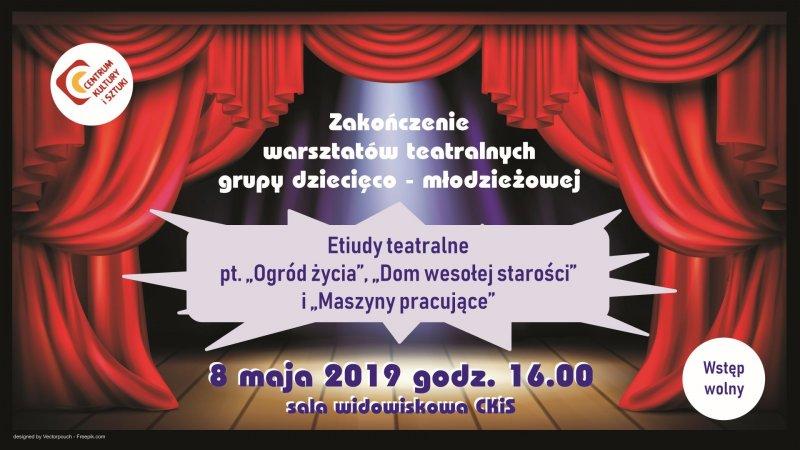 2019-05-08 Zakończenie warsztatów teatralnych grupa dziecieco-młodzieżowa - plansza tv_zmniejszone.jpg
